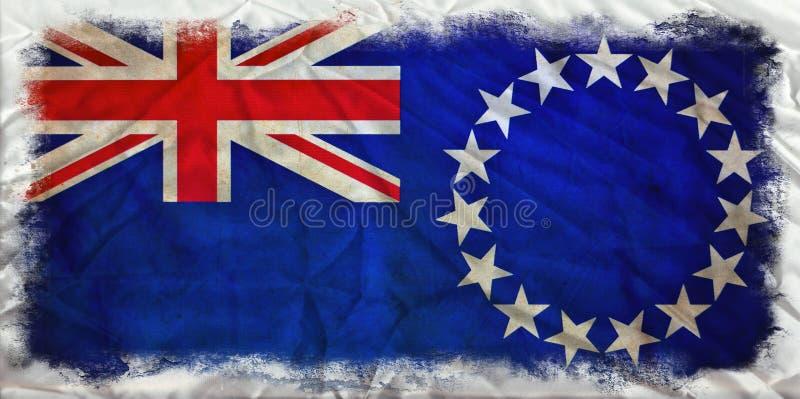 De vlag van kokIslands grunge vector illustratie