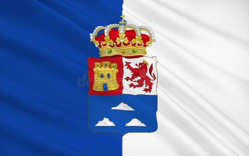 De vlag van Las Palmas is een provincie van Spanje royalty-vrije illustratie