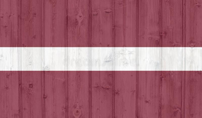 De vlag van Letland van Grunge royalty-vrije illustratie