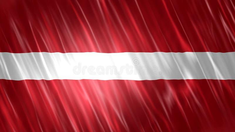 De vlag van Letland royalty-vrije illustratie