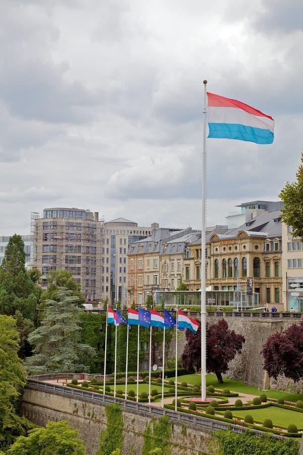De Vlag Van Luxemburg Stock Afbeelding
