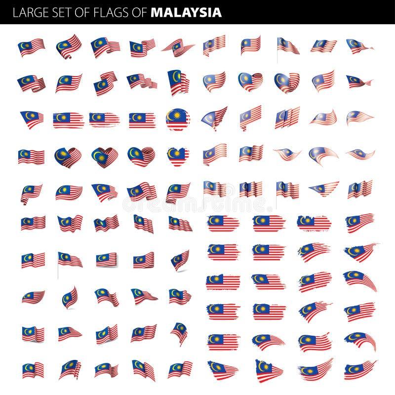 De vlag van Maleisië, vectorillustratie vector illustratie