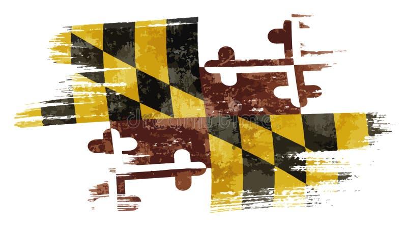 De vlag van Maryland royalty-vrije illustratie