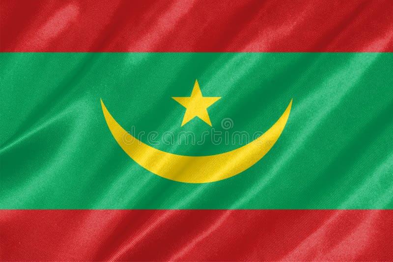 De vlag van Mauretanië royalty-vrije illustratie