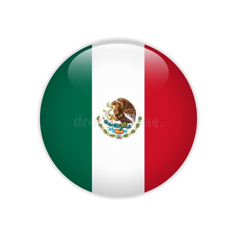 De vlag van Mexico op knoop royalty-vrije illustratie