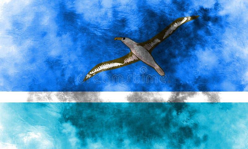 De vlag van Midway Islands grunge, FL van het grondgebied van Verenigde Staten afhankelijk vector illustratie