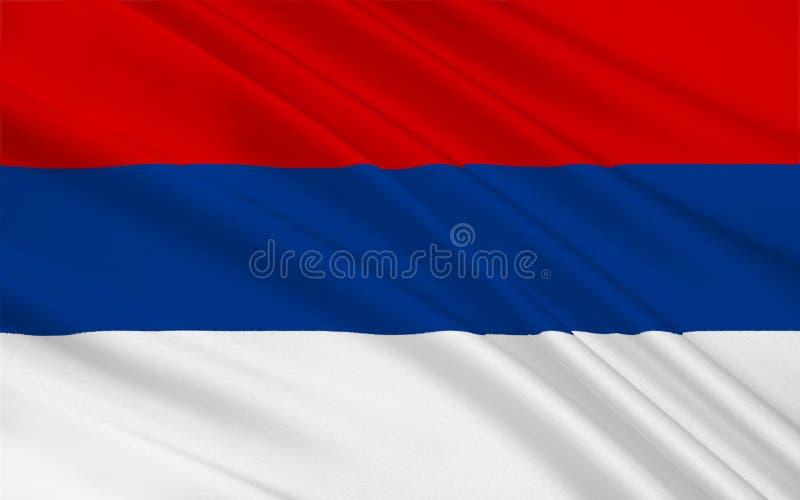 De vlag van Misiones is een provincie in Argentinië royalty-vrije stock foto's