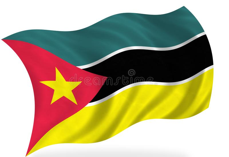 De vlag van Mozambique stock illustratie