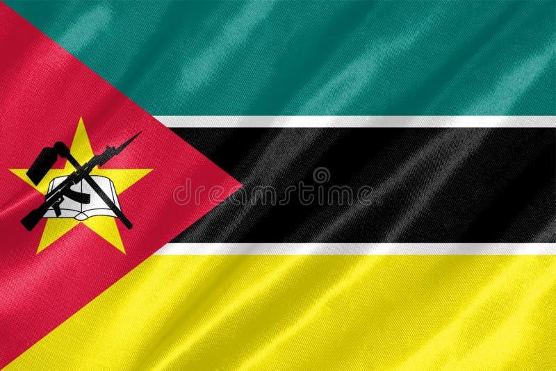 De vlag van Mozambique royalty-vrije illustratie