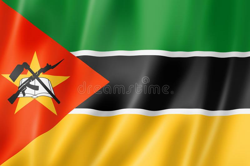De vlag van Mozambique vector illustratie