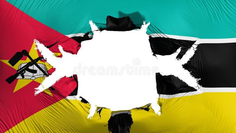 De vlag van Mozambique met een groot gat vector illustratie