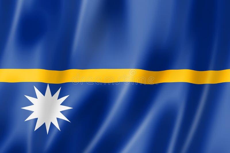 De vlag van Nauru stock illustratie