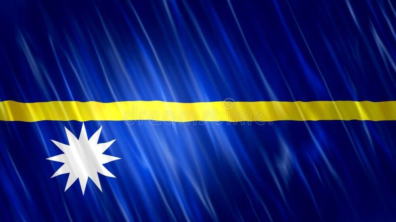 De vlag van Nauru royalty-vrije illustratie