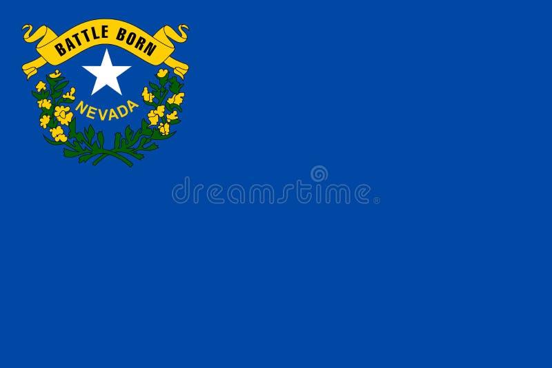 De vlag van Nevada vector illustratie