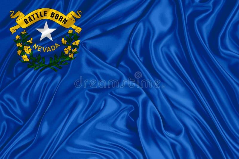 De vlag van Nevada stock illustratie