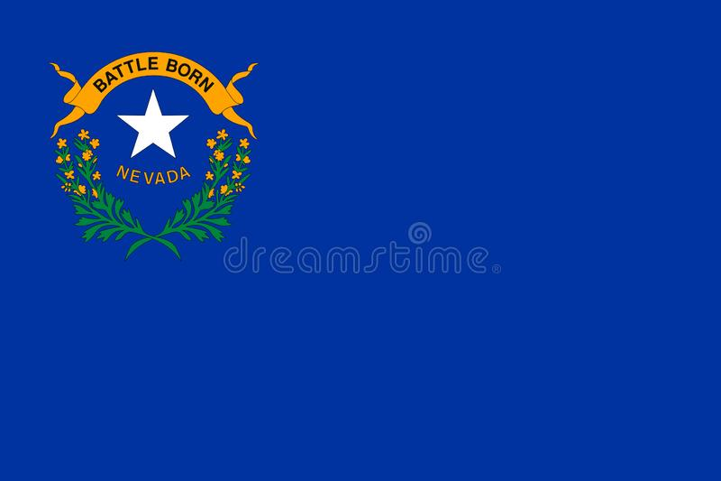 De vlag van Nevada Vector illustratie De Verenigde Staten van Amerika royalty-vrije illustratie