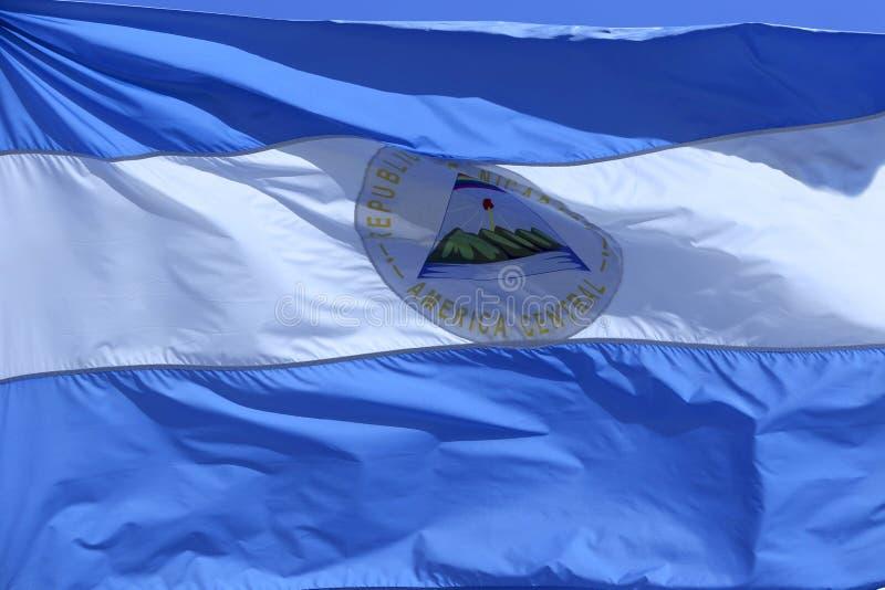De vlag van Nicaragua stock foto's
