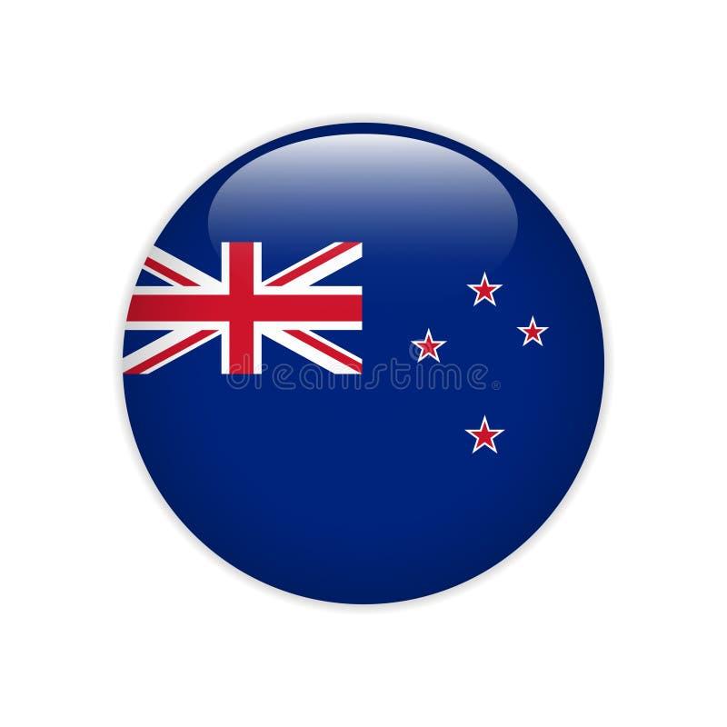 De vlag van Nieuw Zeeland op knoop royalty-vrije illustratie