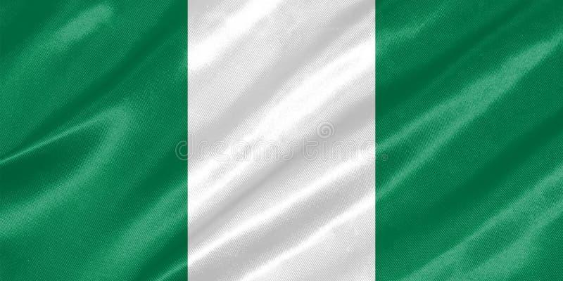 De vlag van Nigeria vector illustratie