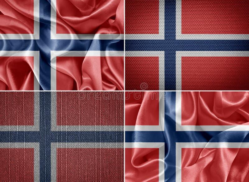 De Vlag van Noorwegen vector illustratie