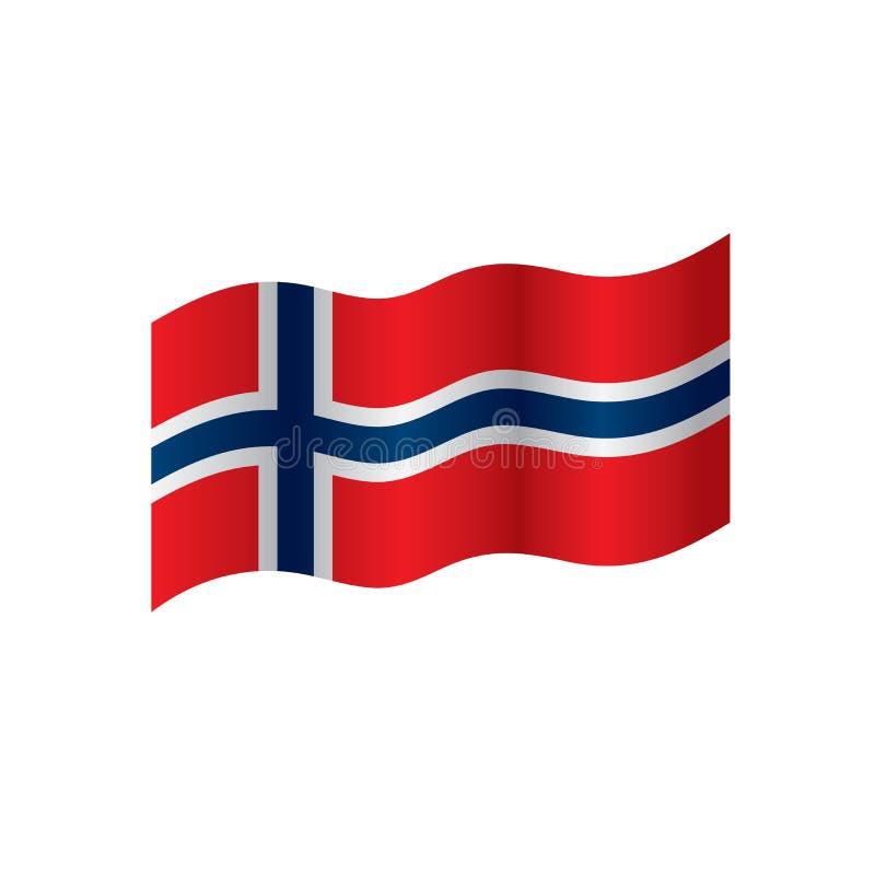 De vlag van Noorwegen, illustratie stock illustratie