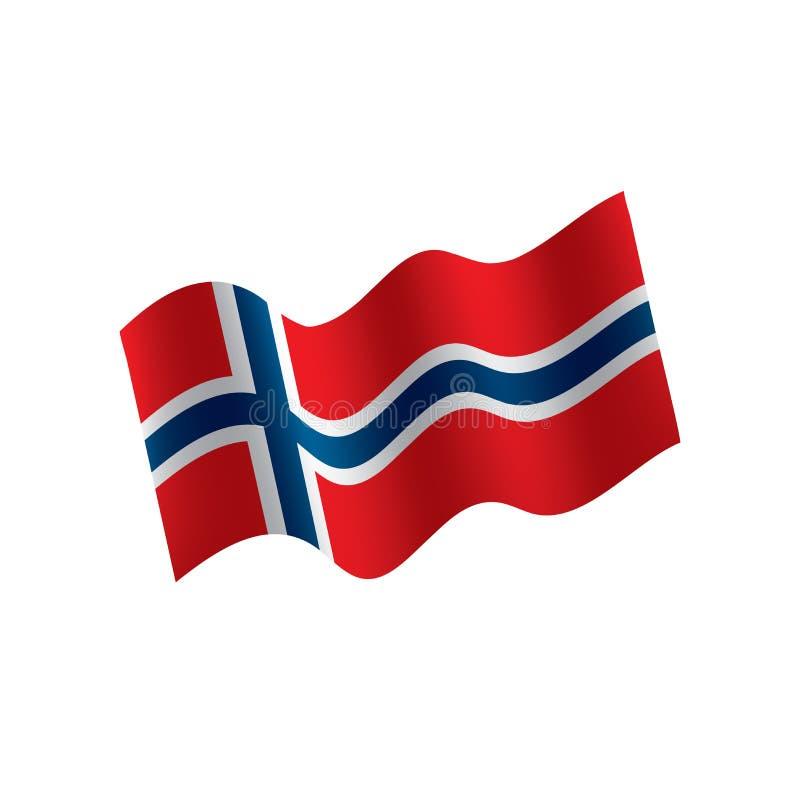 De vlag van Noorwegen, illustratie royalty-vrije illustratie