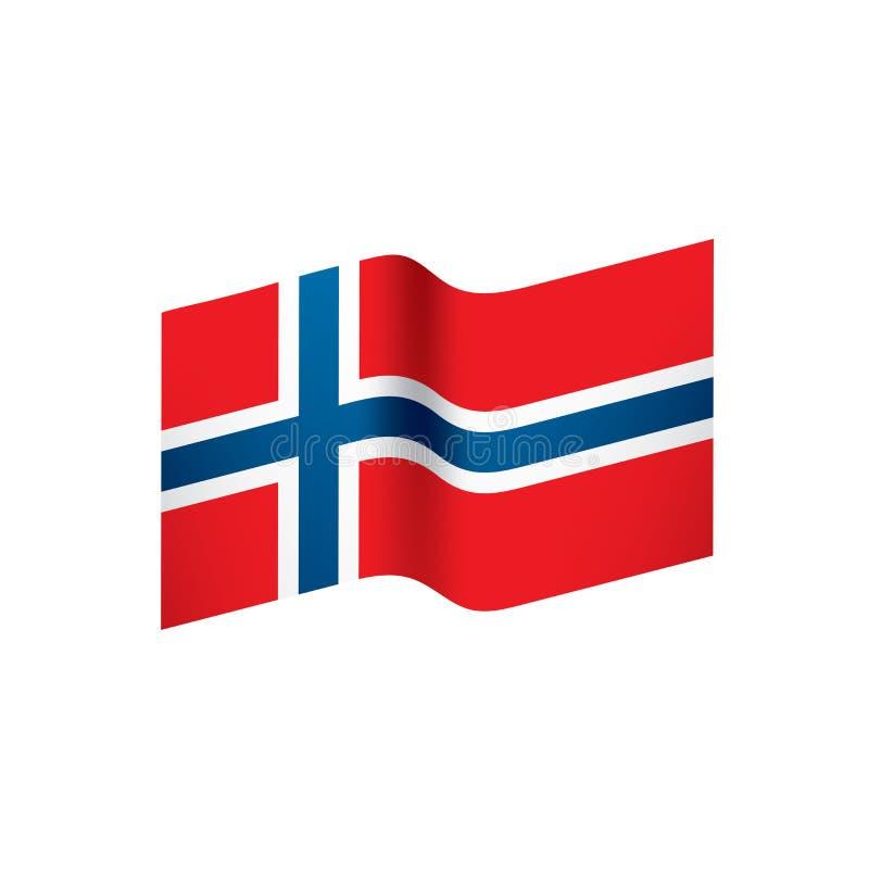 De vlag van Noorwegen, illustratie vector illustratie