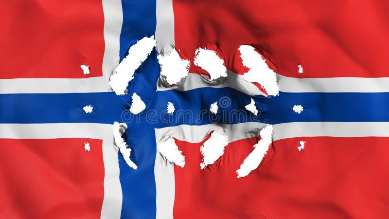 De vlag van Noorwegen met prikken royalty-vrije illustratie