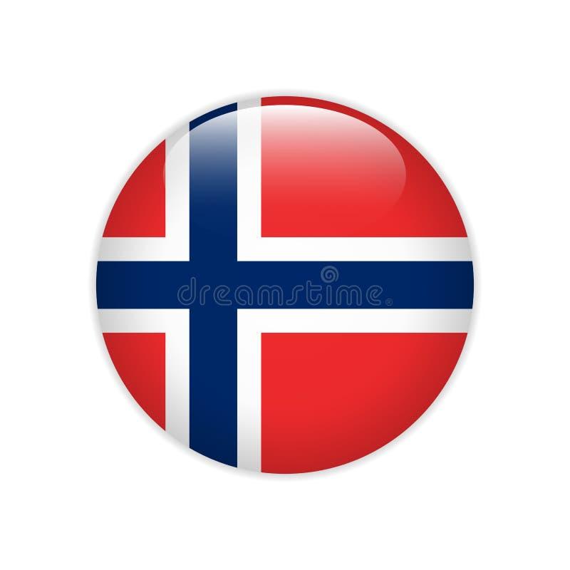 De vlag van Noorwegen op knoop vector illustratie