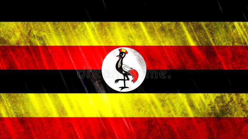 De vlag van Oeganda stock foto