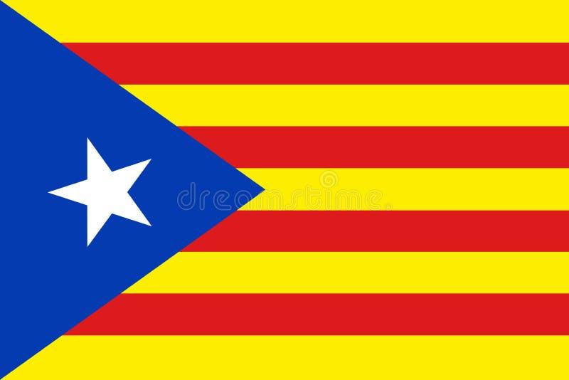 De Vlag van onafhankelijkheidscatalonië royalty-vrije illustratie