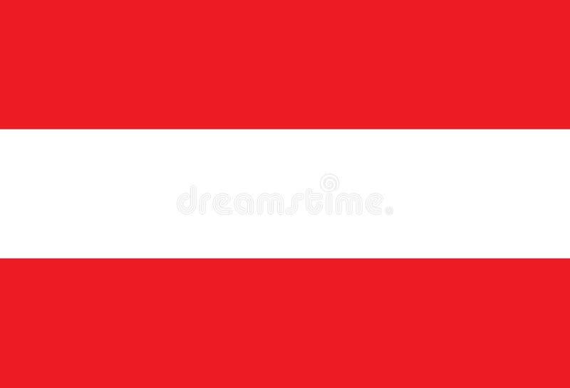 De vlag van Oostenrijk vector illustratie