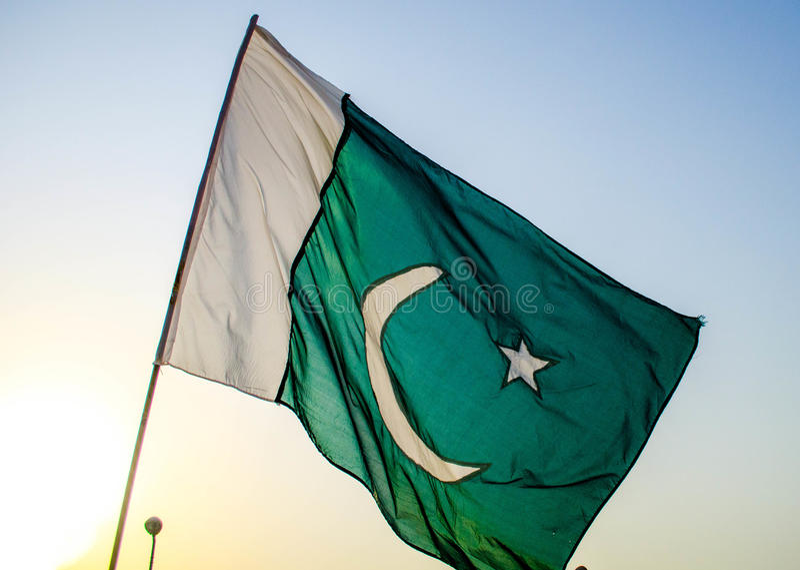 De vlag van Pakistan stock fotografie