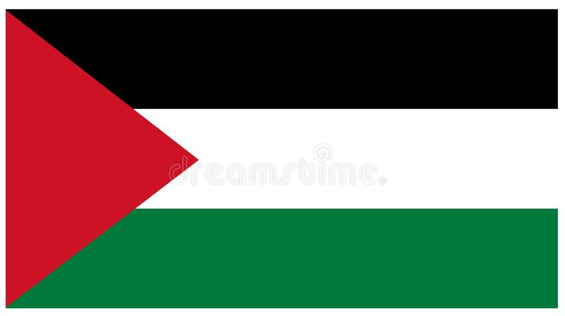 De vlag van Palestina - banner vector illustratie
