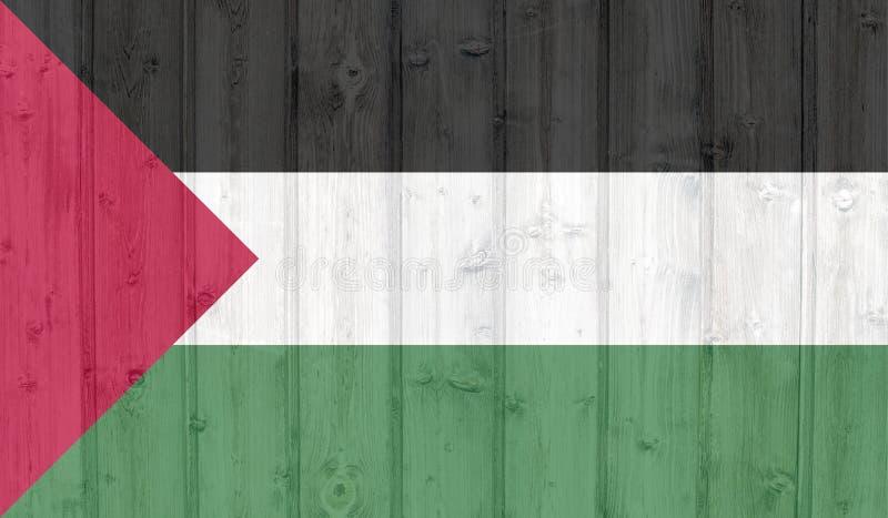 De vlag van Palestina van Grunge vector illustratie