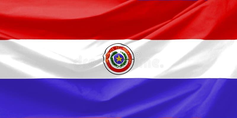 De Vlag van Paraguay vector illustratie