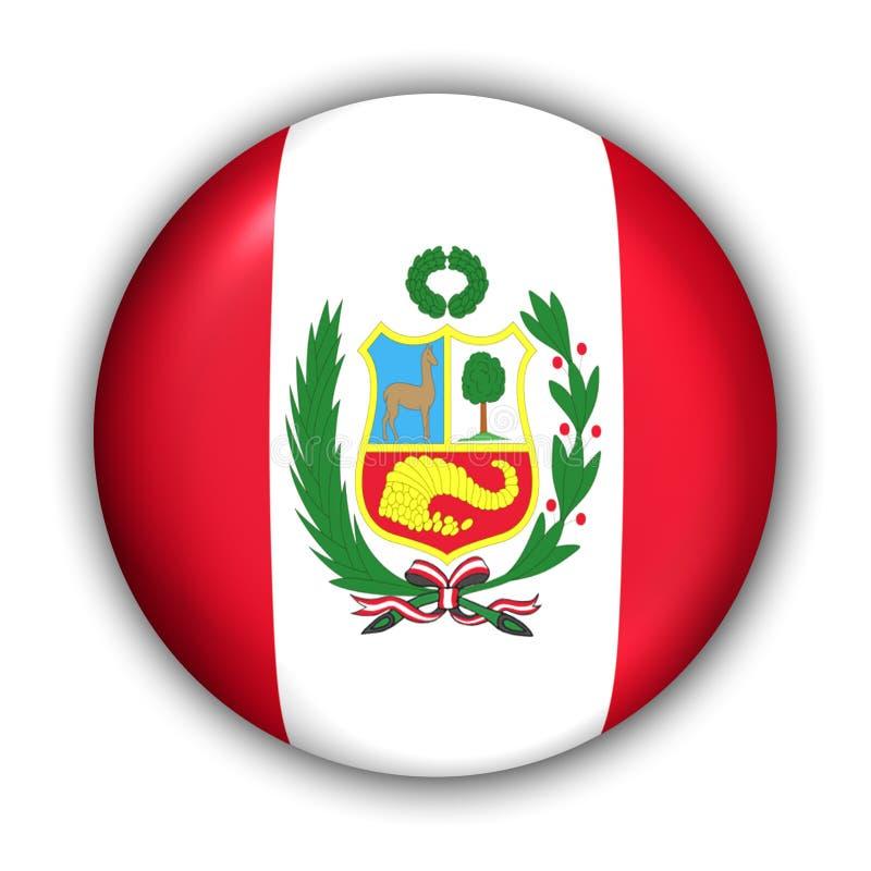 De Vlag van Peru stock illustratie
