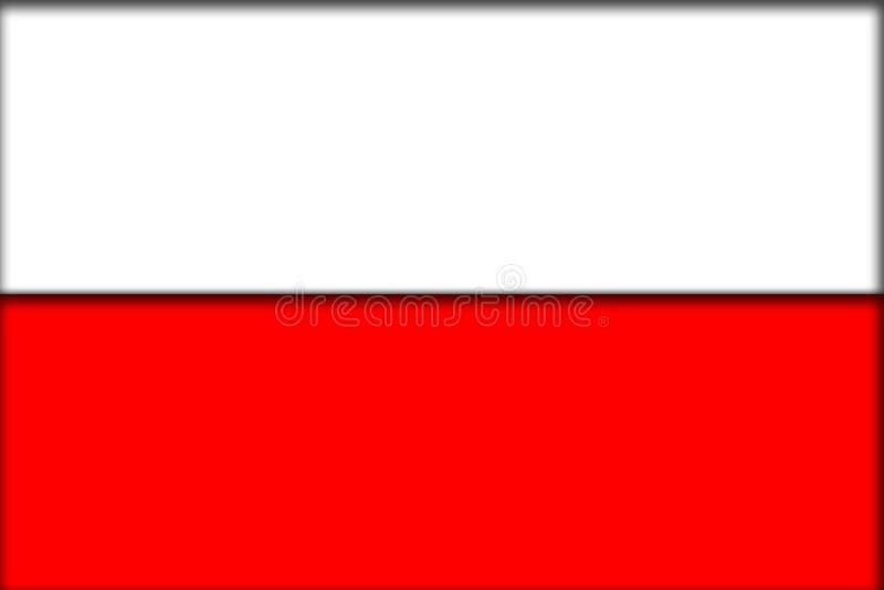 De vlag van Polen