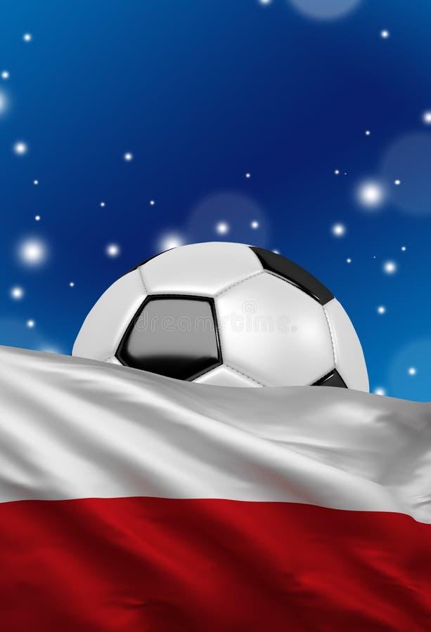 De vlag van Polen, Poolse nationale kleuren, het 3D teruggeven vector illustratie