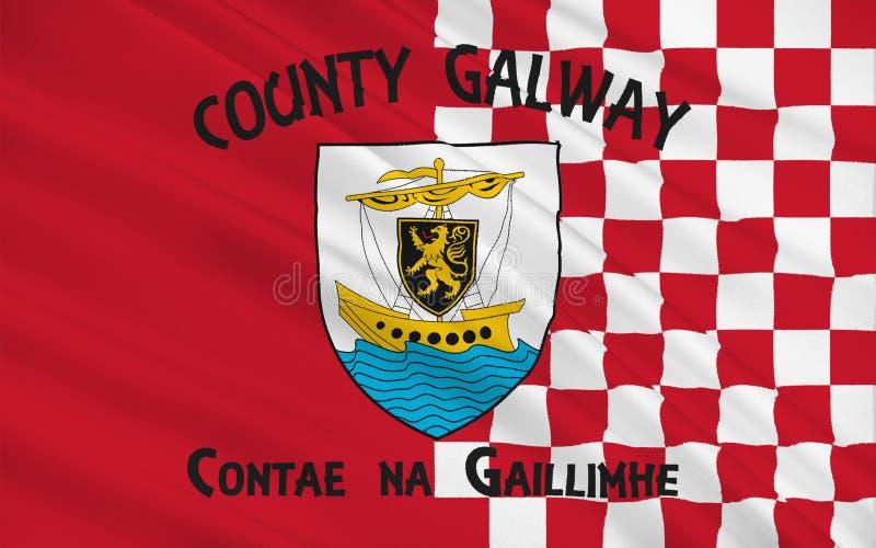 De vlag van Provincie Galway is een provincie in het Westen van Ierland stock illustratie