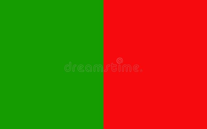 De vlag van Provincie Mayo is een provincie in Ierland royalty-vrije illustratie