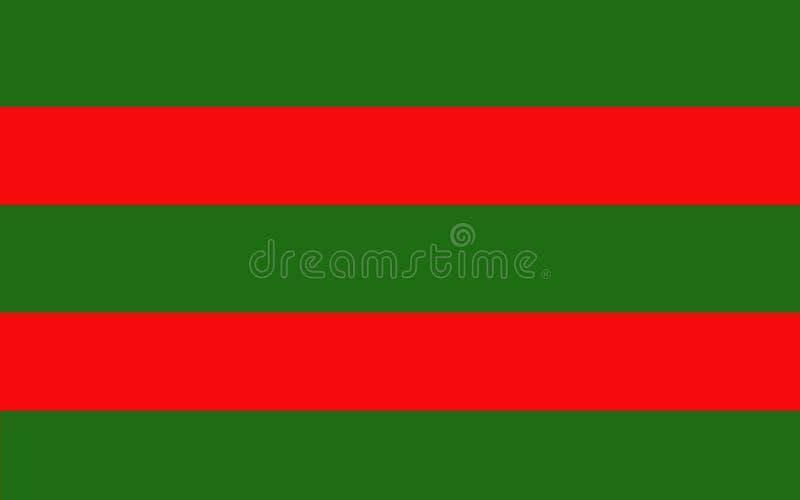 De vlag van Provincie Mayo is een provincie in Ierland vector illustratie