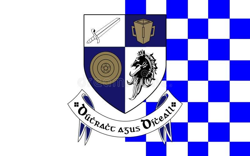 De vlag van Provincie Monaghan is een provincie in Ierland stock fotografie