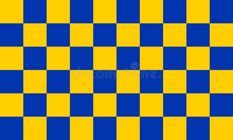 De vlag van de provincie van Surrey royalty-vrije illustratie
