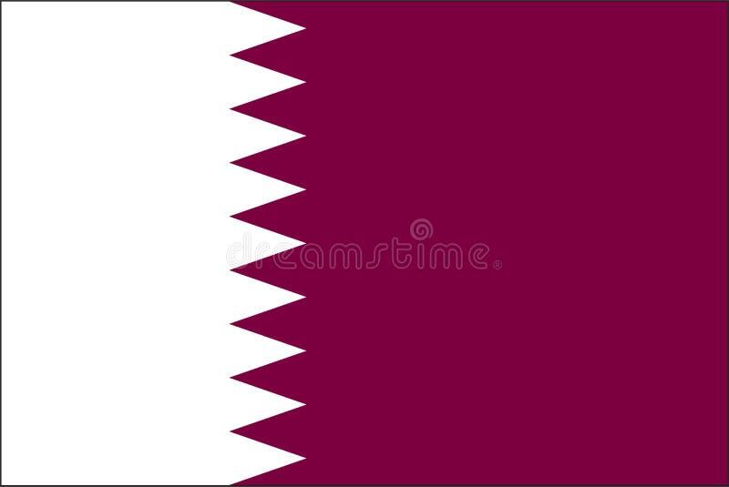 De vlag van Qatar vector illustratie