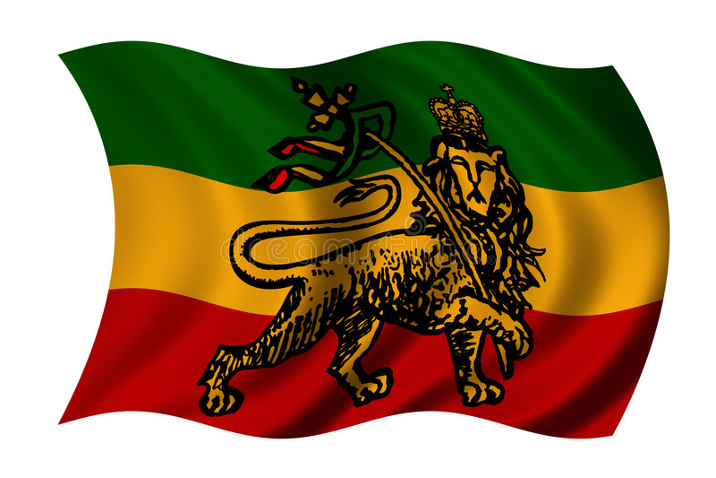 De vlag van Rastafarian