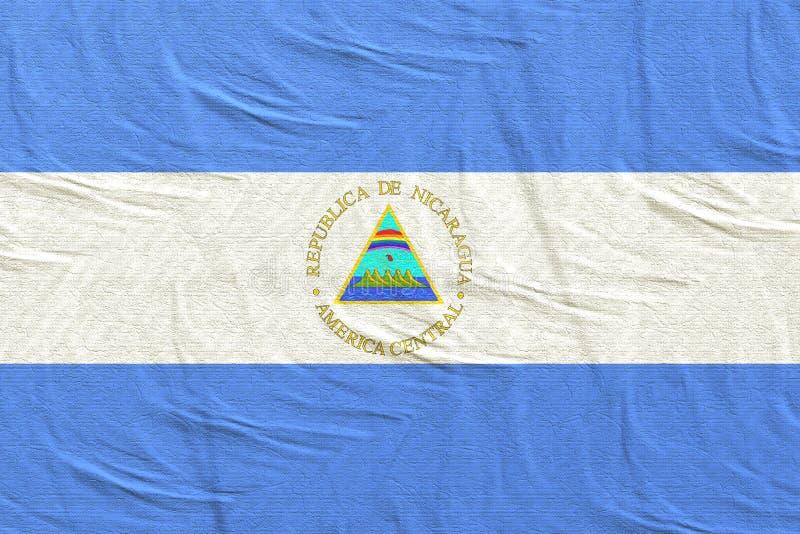 De vlag van de Republiek van Nicaragua het golven royalty-vrije stock afbeelding