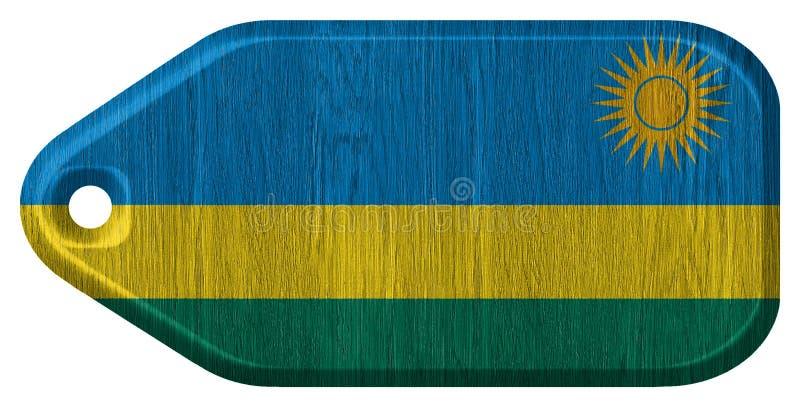 De vlag van Rwanda royalty-vrije stock fotografie