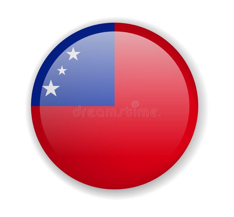 Rond pictogram met vlag van Samoa