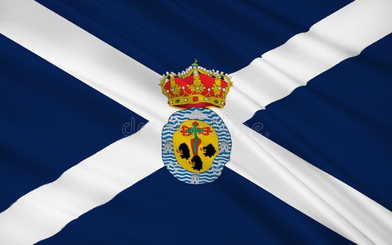 De vlag van Santa Cruz de Tenerife is een provincie van Spanje royalty-vrije illustratie